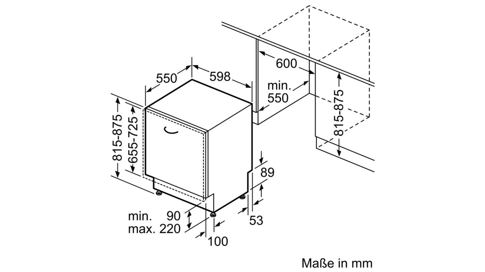 Bosch Smv46mx03e A Vollintegrierbarer Einbau Geschirrspuler 60 Cm