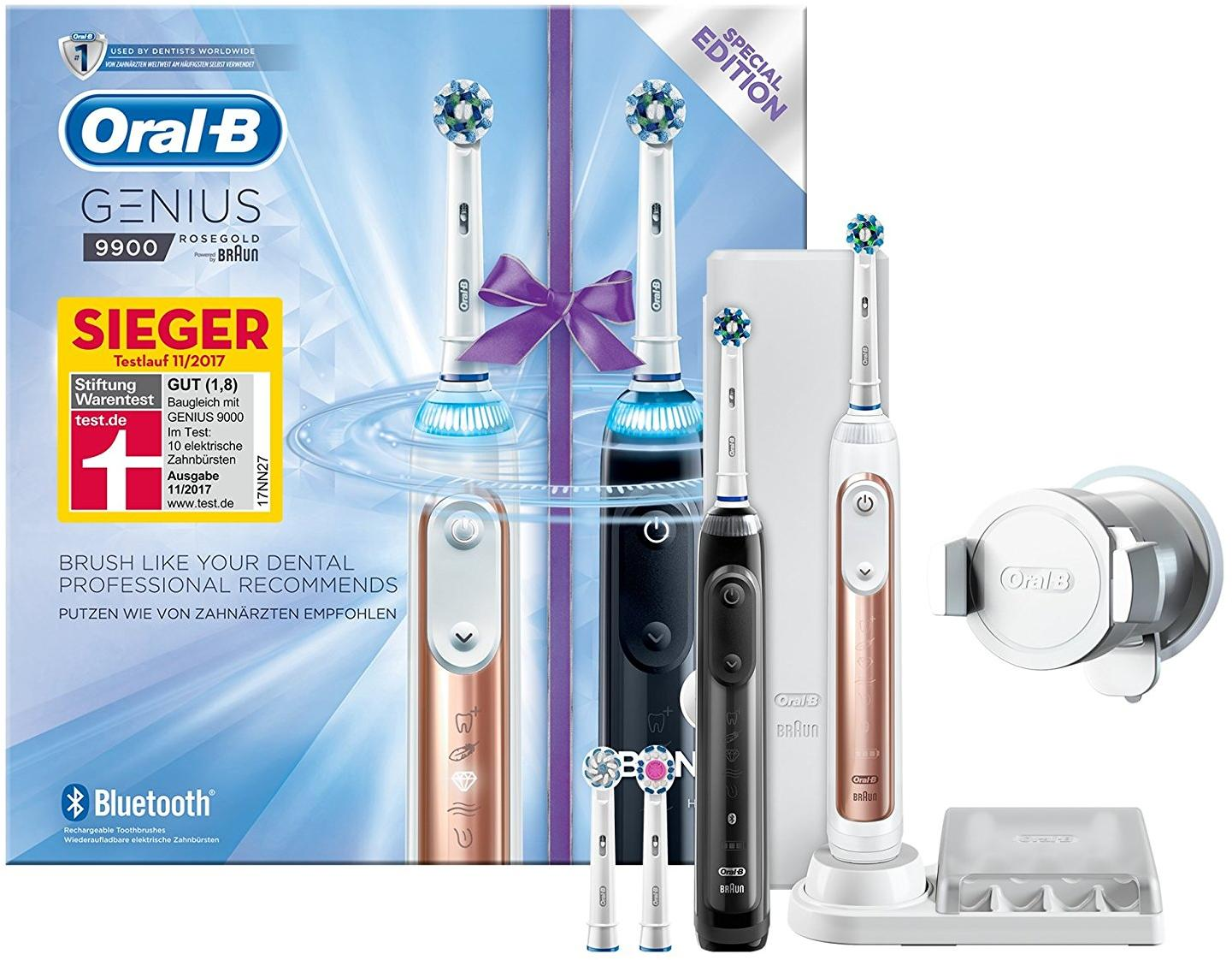 braun oral b genius 9900 special edition elektrische zahnb rste schwarz rosegold von braun bei. Black Bedroom Furniture Sets. Home Design Ideas