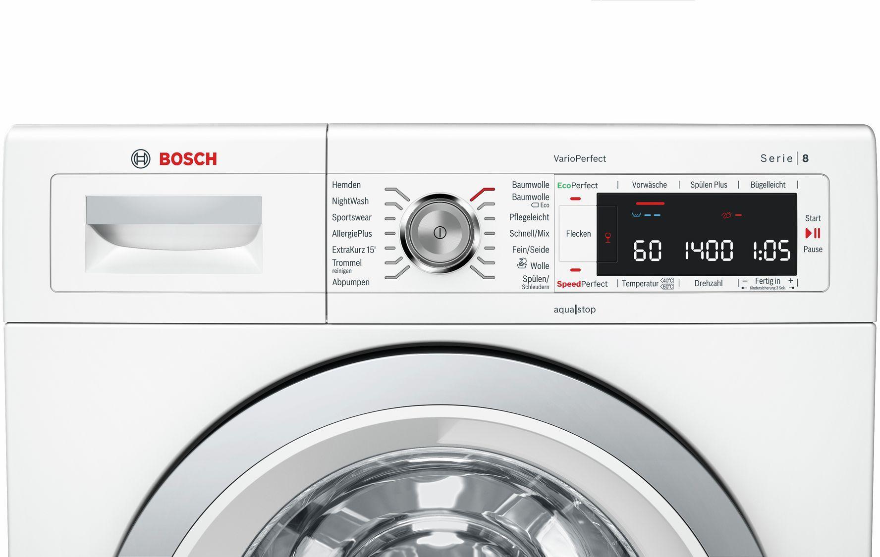 bosch waw28570 8 0 kg eek a waschmaschine vario perfect flecken automatik von bosch. Black Bedroom Furniture Sets. Home Design Ideas