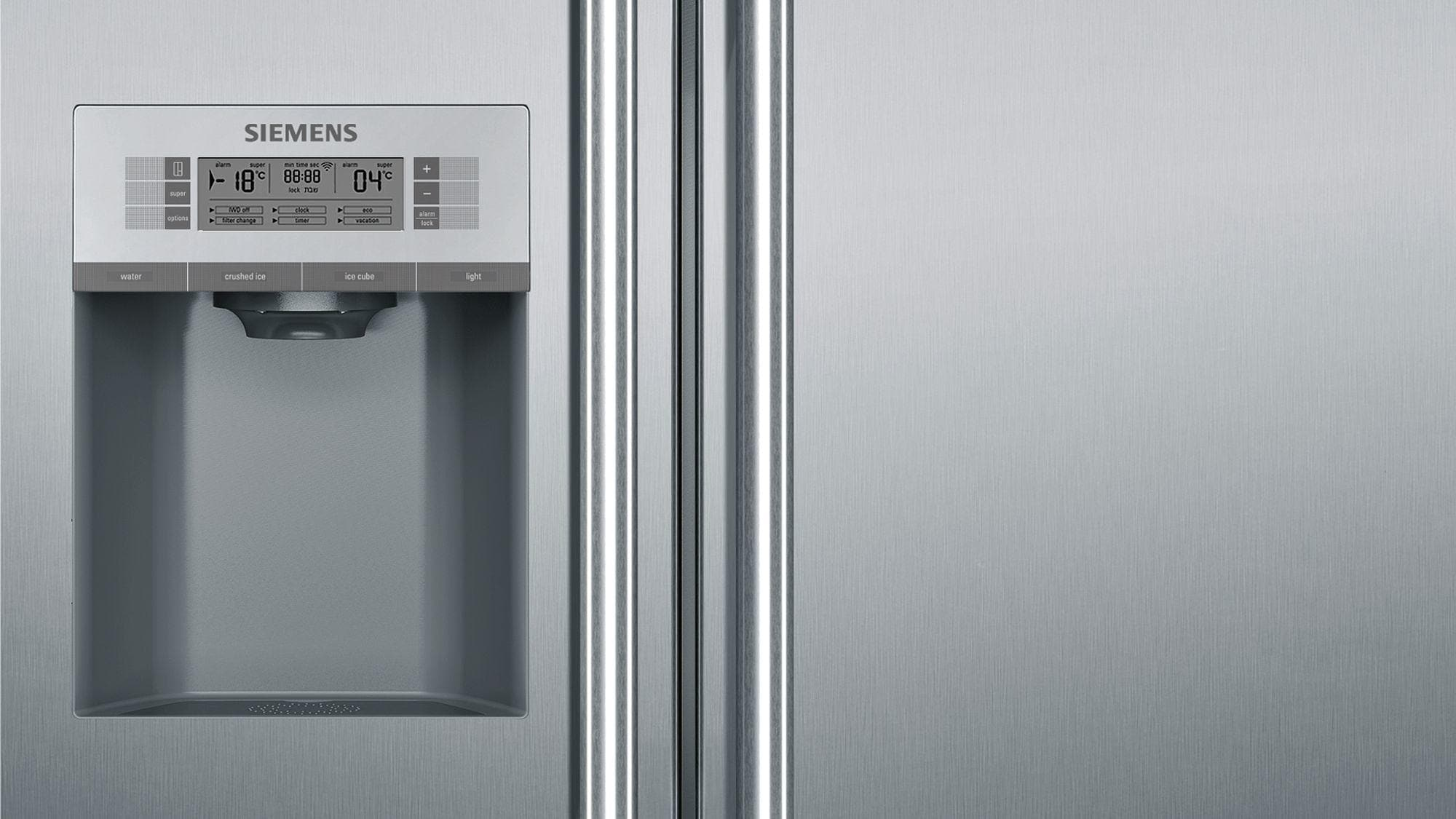 Siemens Kühlschrank Home Connect Einrichten : Siemens ka dai a side by side kombination mm breit