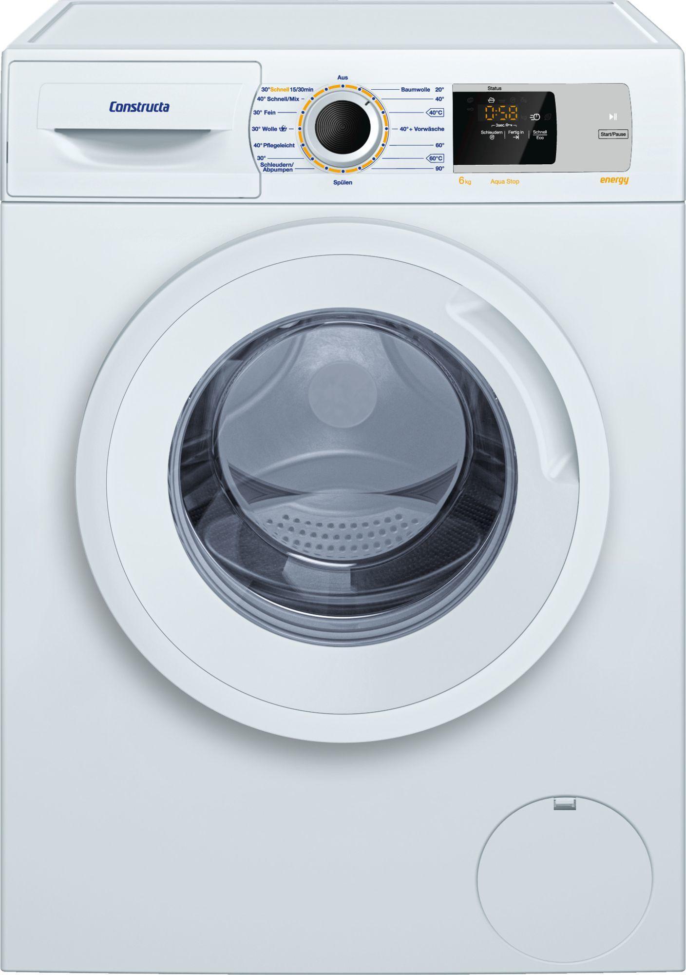 constructa cwf14n00 6kg a waschvollautomat 60 cm breit. Black Bedroom Furniture Sets. Home Design Ideas