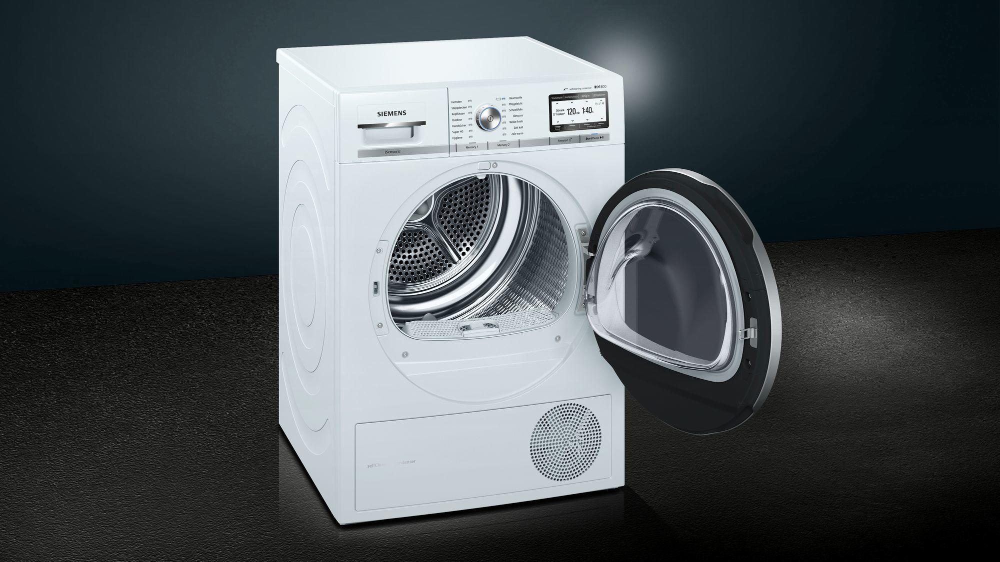 Siemens wt yh kg a wärmepumpentrockner knitterschutz