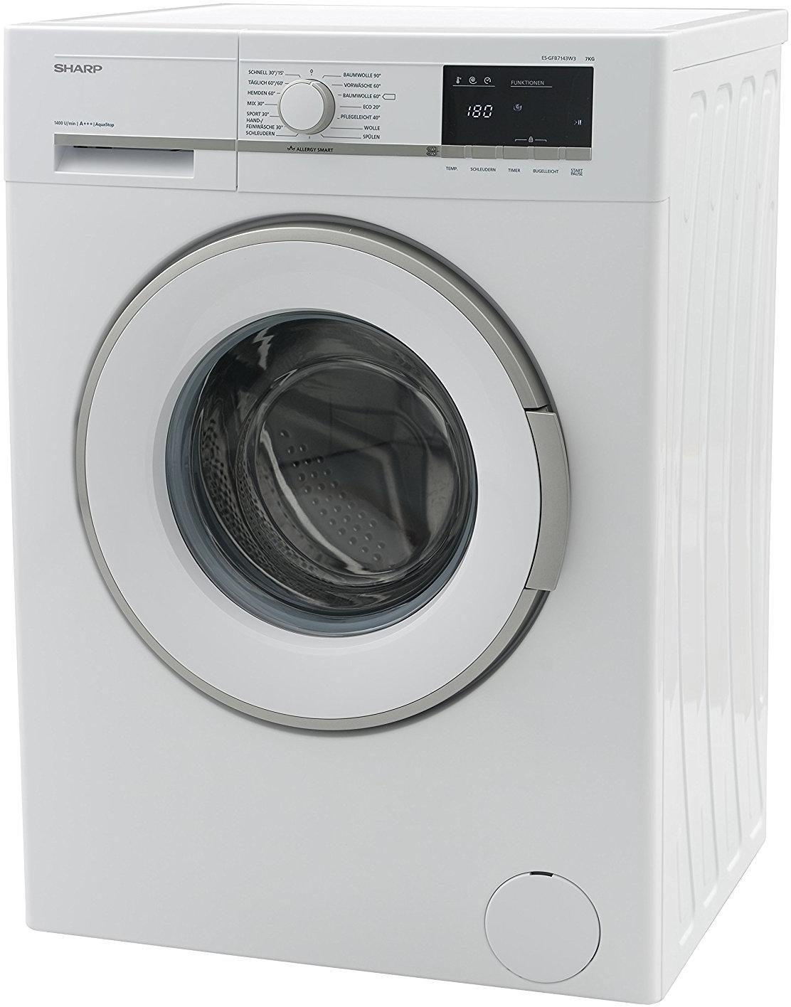 sharp es gfb7143w3 de 7 kg a waschmaschine 1400 u min aquastop led display von sharp. Black Bedroom Furniture Sets. Home Design Ideas