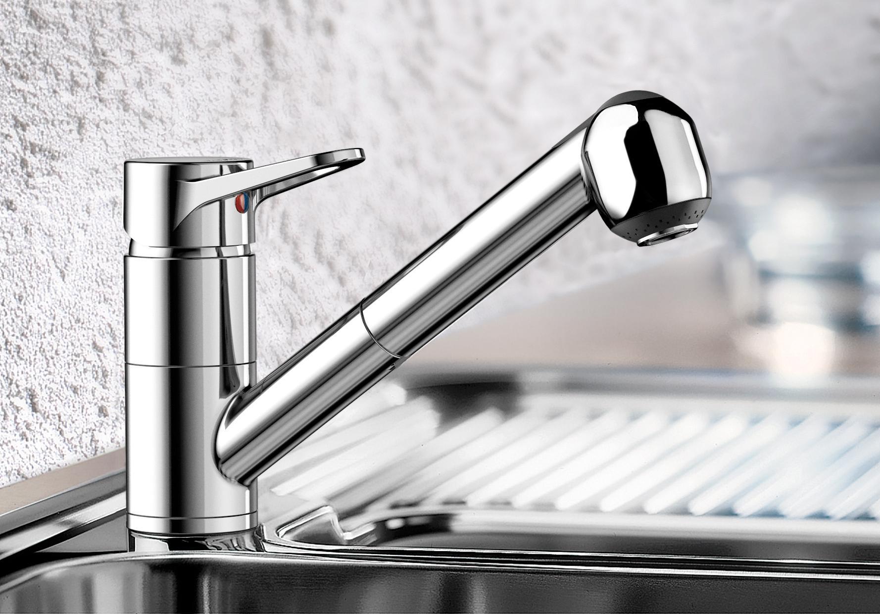 Blanco Orion-S Küchenarmatur, Einhebelmischer Hochdruck, chrom ...