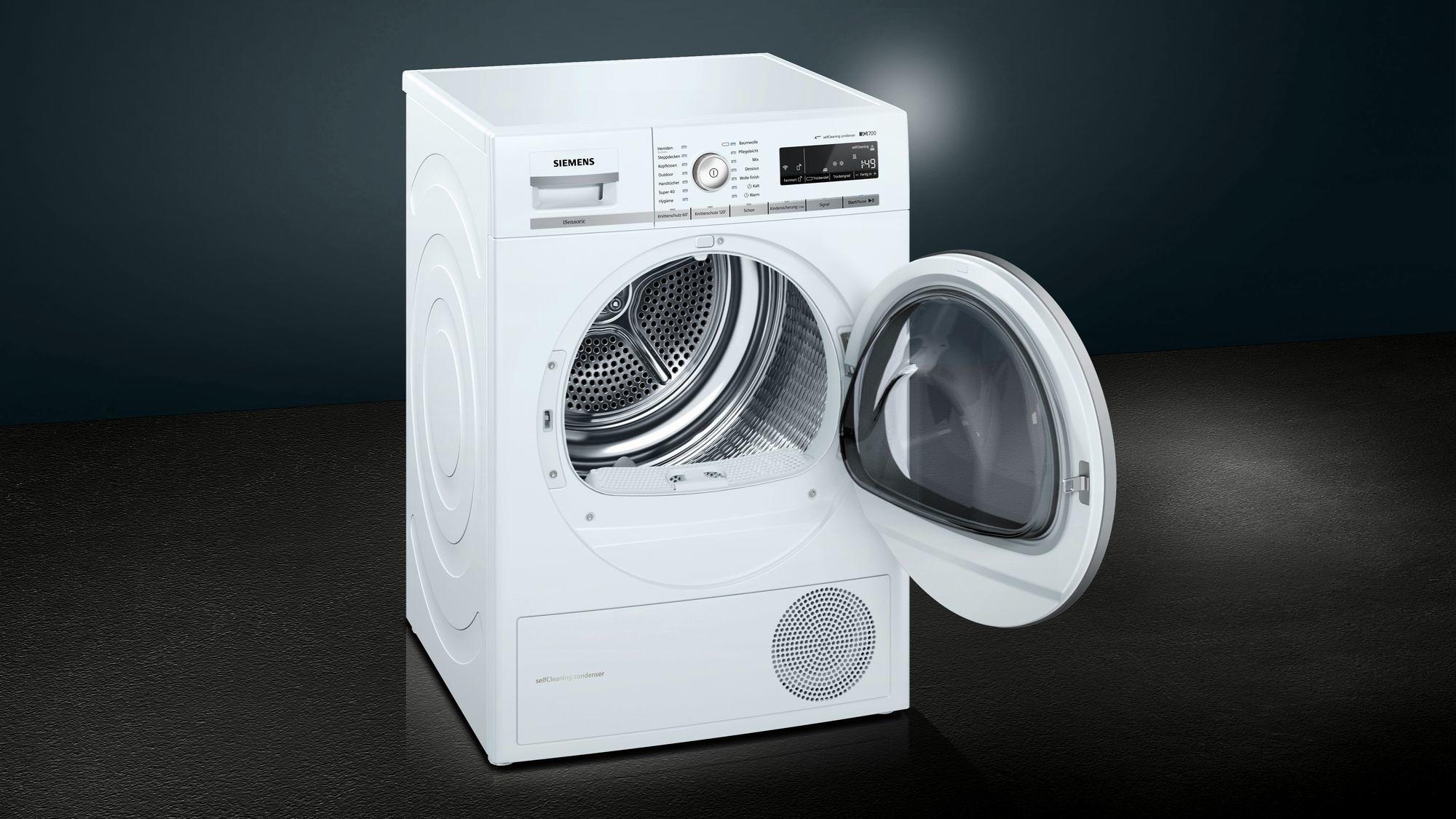 Siemens wt wh a wärmepumpentrockner iq kg home connect