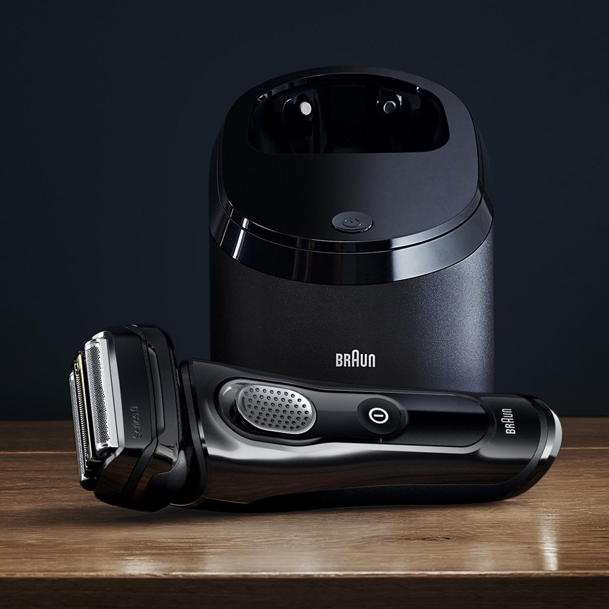 braun 9250cc series 9 elektrorasierer clean charge. Black Bedroom Furniture Sets. Home Design Ideas