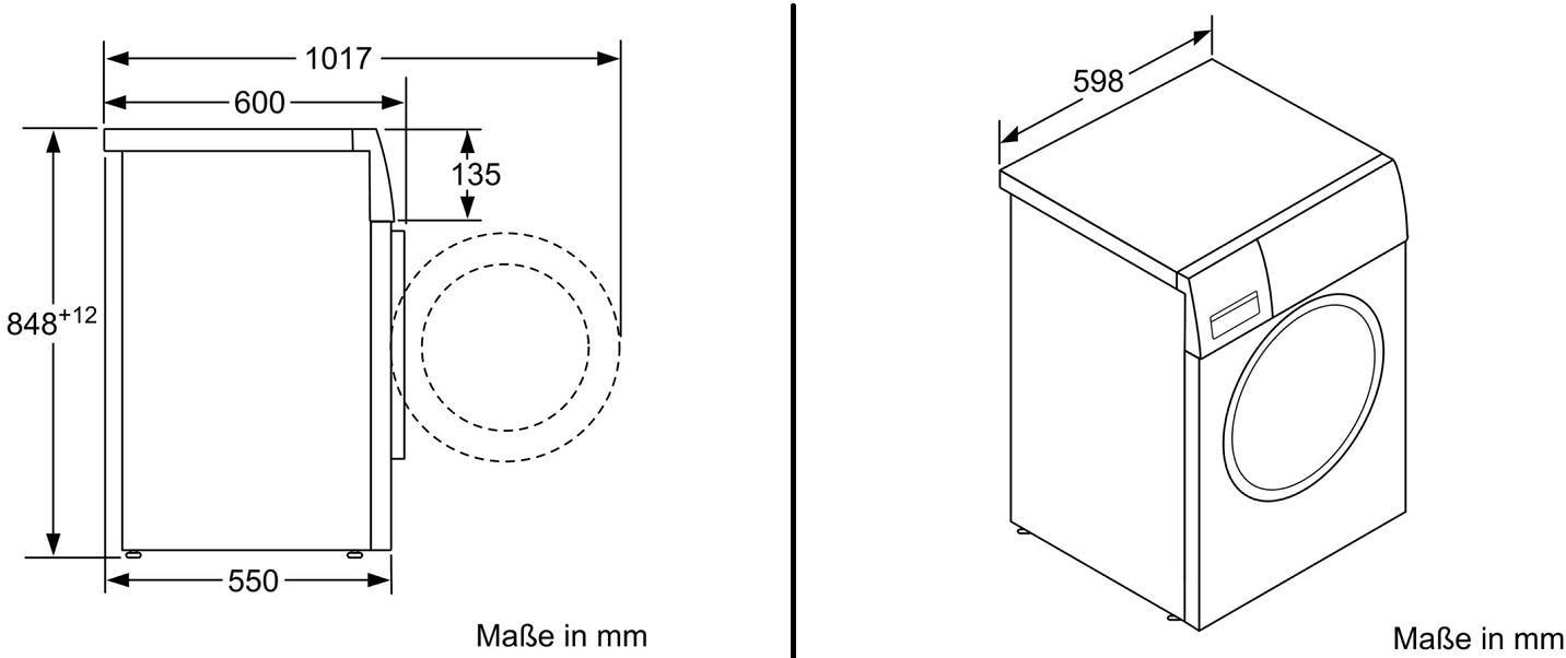 Bekannt Siemens WM14N121 7kg A+++ Waschmaschine, 1400U/min, varioSpeed KM47