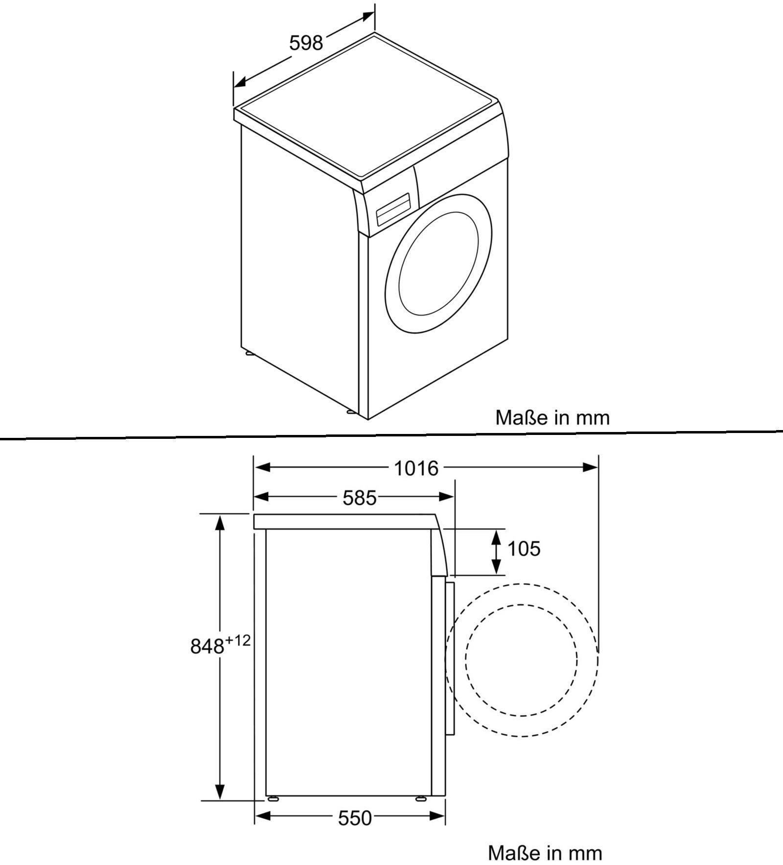 Gut bekannt Bosch WUQ284H0 8 kg A+++ Waschmaschine Frontlader, 1400 U/min EX31