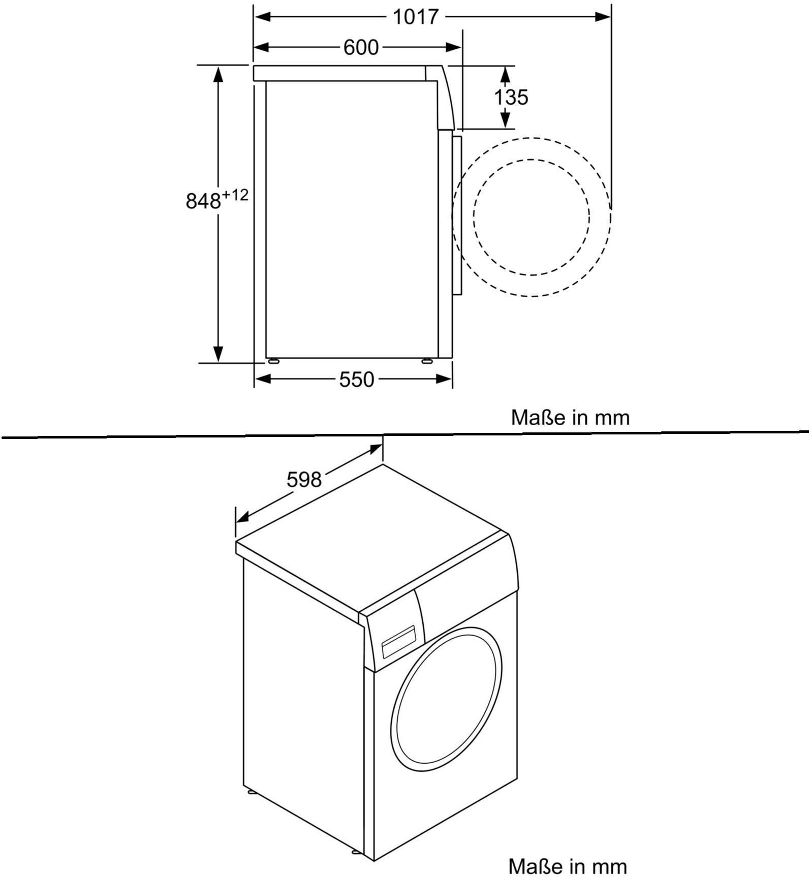 Siemens WM14N2G1 iQ300 A+++ Waschmaschine, 7 kg, 1400 U/min, Knitterschutz,  super 30/15